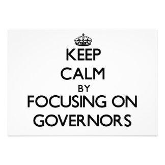 Guarde la calma centrándose en los gobernadores