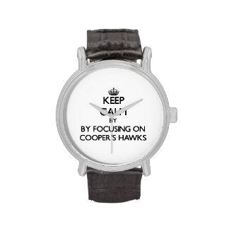 Guarde la calma centrándose en los halcones del reloj de mano