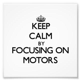 Guarde la calma centrándose en los motores