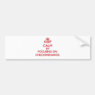 Guarde la calma centrándose en los tableros de pegatina de parachoque