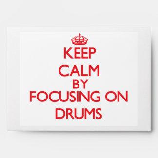 Guarde la calma centrándose en los tambores