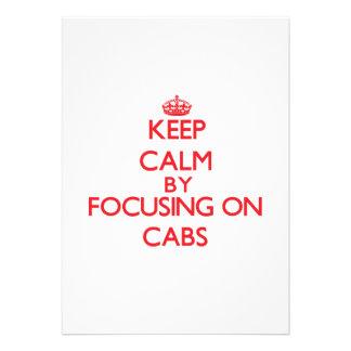 Guarde la calma centrándose en los taxis anuncios personalizados