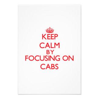 Guarde la calma centrándose en los taxis anuncios