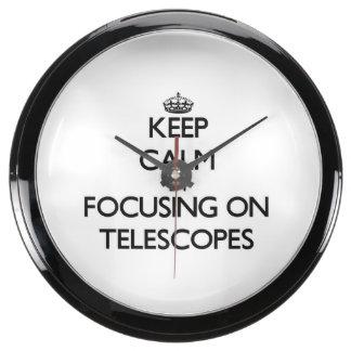 Guarde la calma centrándose en los telescopios