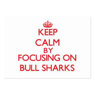 Guarde la calma centrándose en los tiburones de Bu Tarjeta De Visita