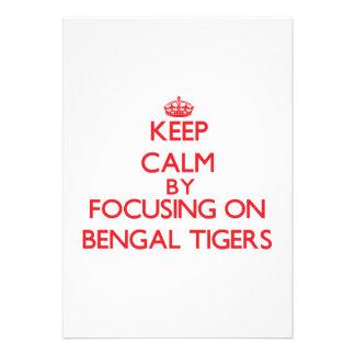 Guarde la calma centrándose en los tigres de Benga Invitacion Personal