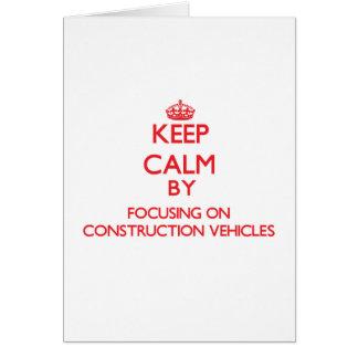 Guarde la calma centrándose en los vehículos de la tarjetas
