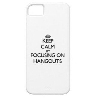 Guarde la calma centrándose en lugares iPhone 5 coberturas