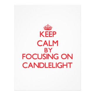 Guarde la calma centrándose en luz de una vela flyer personalizado