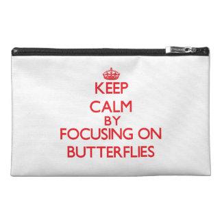 Guarde la calma centrándose en mariposas
