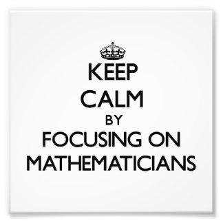 Guarde la calma centrándose en matemáticos arte fotografico