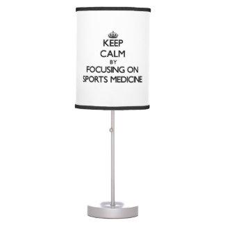 Guarde la calma centrándose en medicina de deporte