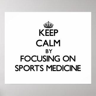 Guarde la calma centrándose en medicina de deporte impresiones