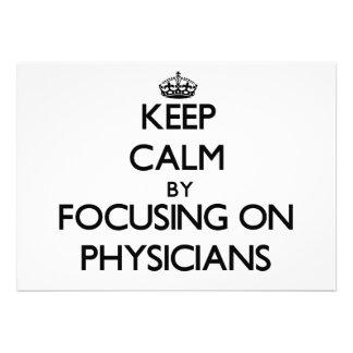 Guarde la calma centrándose en médicos