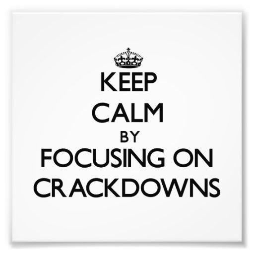 Guarde la calma centrándose en medidas enérgicas cojinete