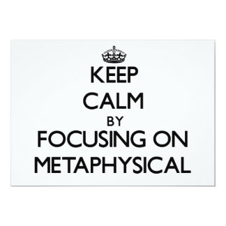 Guarde la calma centrándose en metafísico invitación 12,7 x 17,8 cm