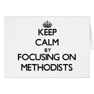 Guarde la calma centrándose en Methodists Tarjeta Pequeña