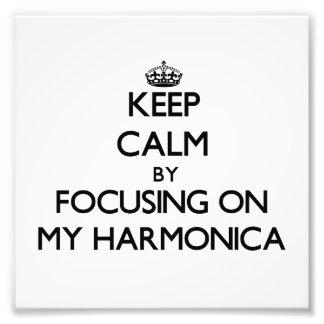 Guarde la calma centrándose en mi armónica