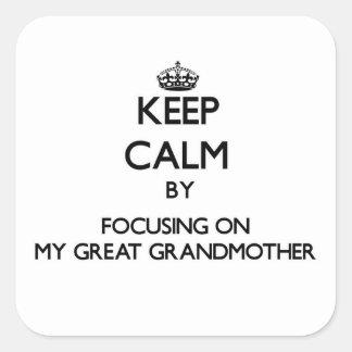 Guarde la calma centrándose en mi bisabuela