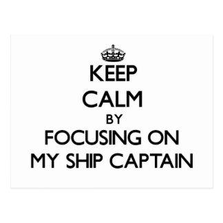Guarde la calma centrándose en mi capitán de buque