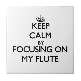 Guarde la calma centrándose en mi flauta