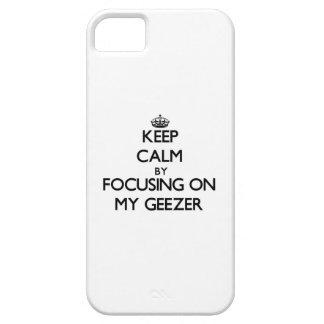 Guarde la calma centrándose en mi Geezer iPhone 5 Funda