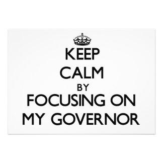 Guarde la calma centrándose en mi gobernador