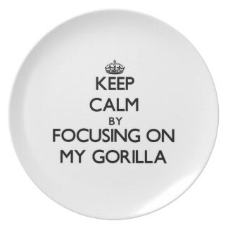 Guarde la calma centrándose en mi gorila platos