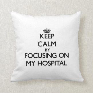 Guarde la calma centrándose en mi hospital cojines