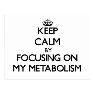 Guarde la calma centrándose en mi metabolismo postales