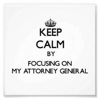 Guarde la calma centrándose en mi Procurador Gener
