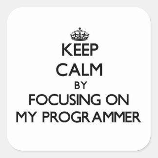Guarde la calma centrándose en mi programador