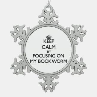 Guarde la calma centrándose en mi ratón de bibliot adornos