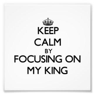 Guarde la calma centrándose en mi rey