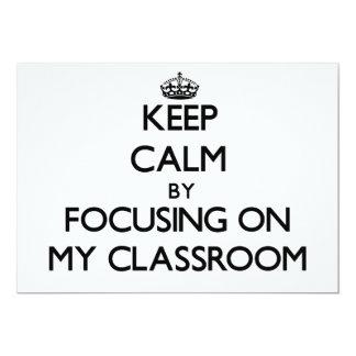 Guarde la calma centrándose en mi sala de clase comunicados