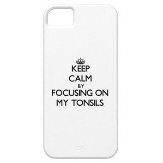 Guarde la calma centrándose en mis amígdalas iPhone 5 cárcasa