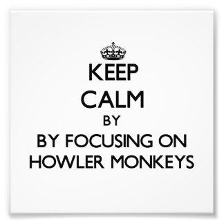 Guarde la calma centrándose en monos de chillón