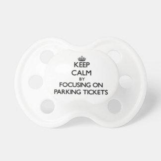 Guarde la calma centrándose en multas de aparcamie