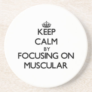Guarde la calma centrándose en muscular posavasos manualidades