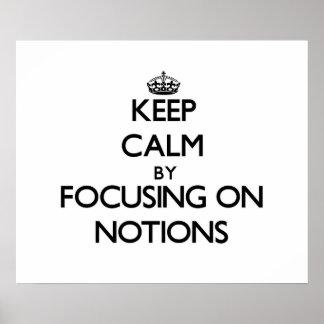 Guarde la calma centrándose en nociones