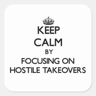 Guarde la calma centrándose en OPA hostiles