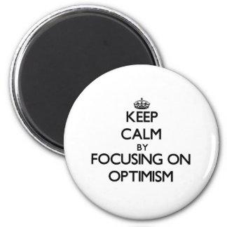 Guarde la calma centrándose en optimismo