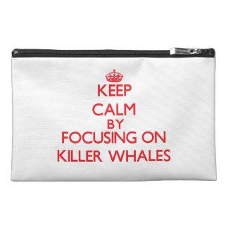 Guarde la calma centrándose en orcas