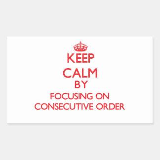 Guarde la calma centrándose en orden consecutiva rectangular altavoz