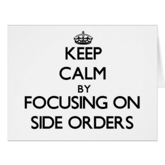 Guarde la calma centrándose en órdenes laterales