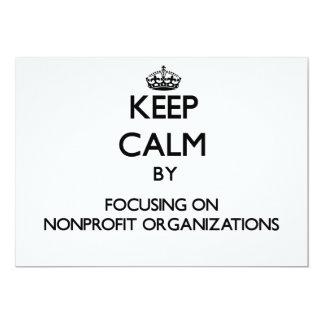 Guarde la calma centrándose en organizaciones sin invitación 12,7 x 17,8 cm