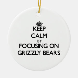 Guarde la calma centrándose en osos grizzly ornamentos para reyes magos