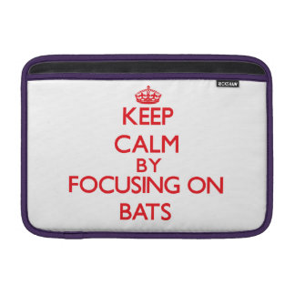 Guarde la calma centrándose en palos fundas MacBook