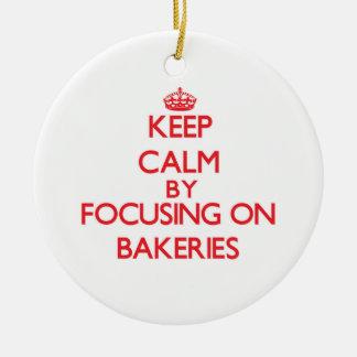 Guarde la calma centrándose en panaderías ornamentos de reyes