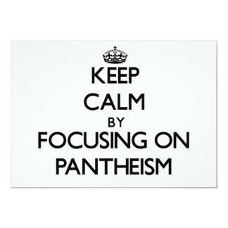 Guarde la calma centrándose en panteísmo invitación 12,7 x 17,8 cm